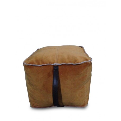 STOOL SQUARE WITH VINTAGE VELVET FABRIC