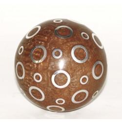 BALL GIFTBOX RESIN, SMALL SILVER RINGS