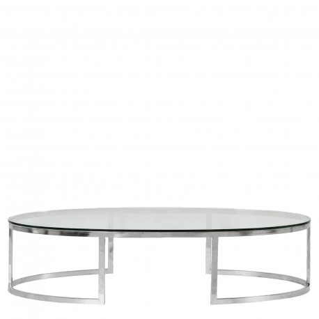 OVAL COFFEE TABLE WITH GLASS