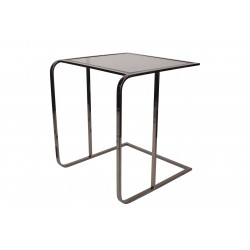 COFFEE END TABLE WITH DARK COLORED GLASS