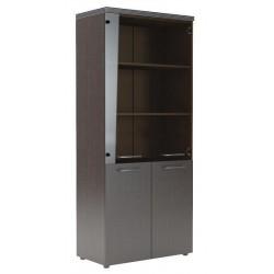 Архивный шкаф (комбинация глухих и стеклянных дверей)