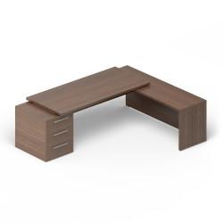 Стол на несущей тумбе (3 ящика)