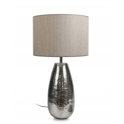 tablelamp aluminium with taupe shade