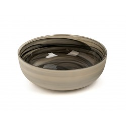 bowl glass with taupe outside L