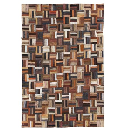 PATCHWORK CARPET SUEDE LEATHER (120X180)