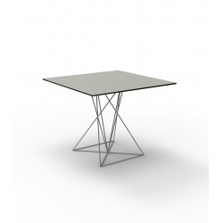 FAZ TABLE STAINLESS BASE 100x100