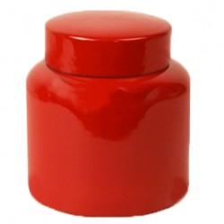 Pot ceramic jar with cover L