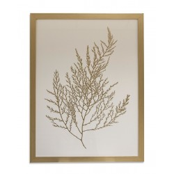 PICTURE FRAME: GOLD FOIL ALGAE II