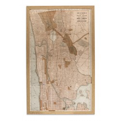 PICTURE FRAME: NEW YORK MANHATTAN MAP I