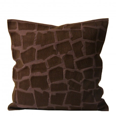 CUSHION EMBROIDERED STONES