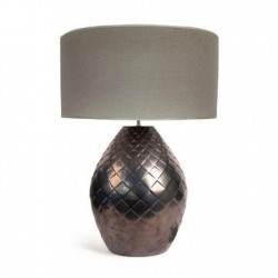 TABLELAMP CERAMICS WITH HONEYCOMB SHADE