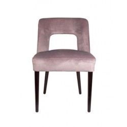 SHELL SIDECHAIR WITH BROWN LEGS & ASPEN FABRIC