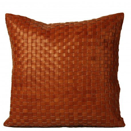 TAMARA CUSHION WOVEN LEATHER