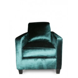 MODERNO LOUNGECHAIR WITH VINTAGE VELVET FABRIC