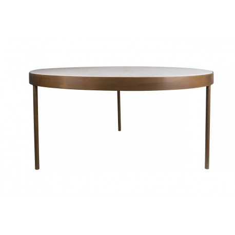 ENDTABLE BRONZE FRAME WITH MARBLE INLAY L