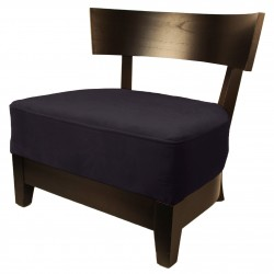 BARON LOUNGECHAIR EBONY-CANVAS FABRIC