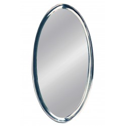 MIRROR OVAL ALUMINIUM LARGE