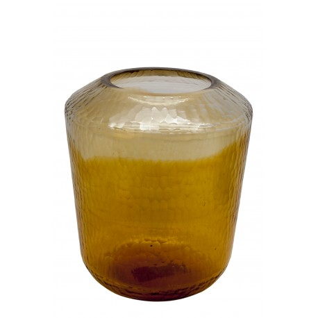 VASE GLASS WITH GOLD BOTTOM S