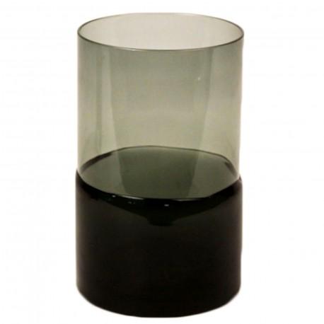 TEALIGHT GLASS BLACK BOTTOM L