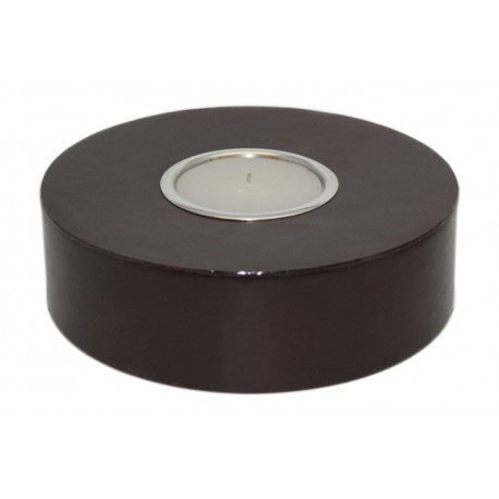 TEALIGHT LEATHER M, PREFILLED