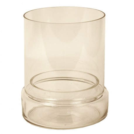 CANDLE HOLDER WITH TRANSPARANT BOTTOM - S