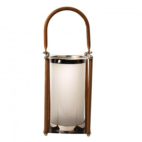 LANTERN WITH LEATHER HANDLE L