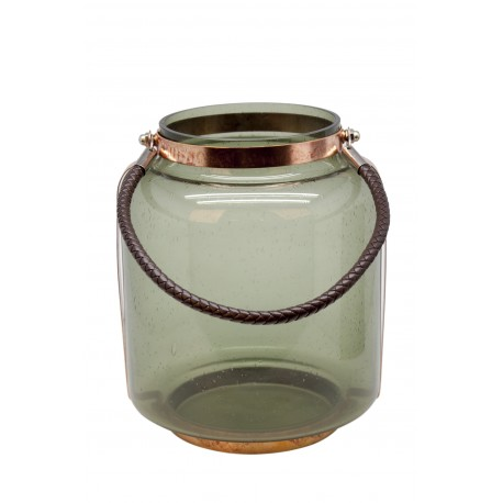 TEALIGHT COLORED GLASS WITH HANDLE S