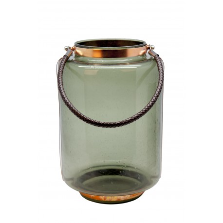 TEALIGHT COLORED GLASS WITH HANDLE M
