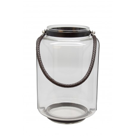 TEALIGHT CLEAR GLASS WITH HANDLE M