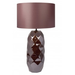 TABLELAMP CERAMICS WITH BROWN SHADE
