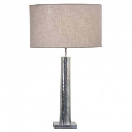 TABLELAMP IRON WITH TAUPE SHADE