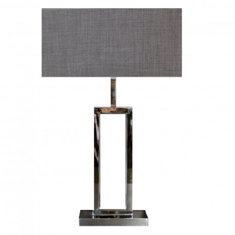 TABLELAMP METAL WITH GREY SHADE