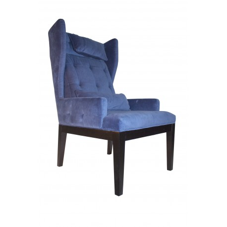 VANCOUVER LOUNGE CHAIR WITH VINTAGE VELVET FABRIC